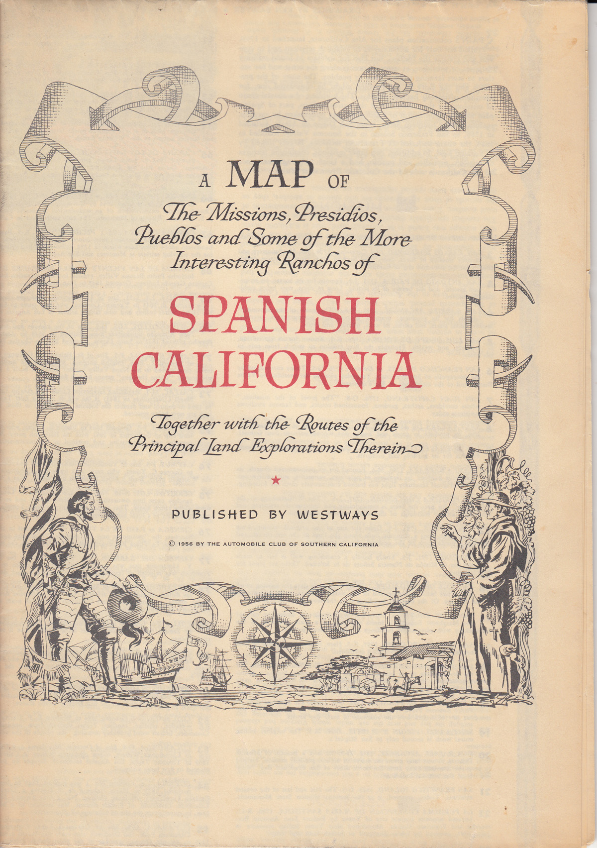 Missions In Southern California Map.A Map Of The Missions Presidios Pueblos And Some Of The More Interesting Ranchos Of Spanish California Together With The Routes Of The Principal