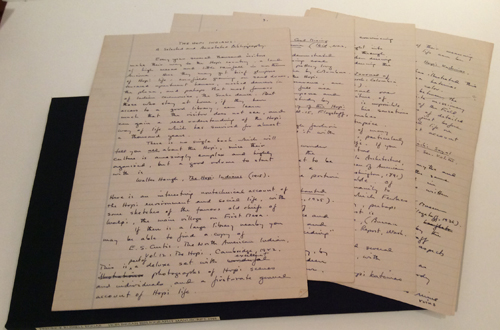 The Hopi Indians: A Selected and Annotated Bibliography (Original Manuscript). Fredrick Russell Eggan.