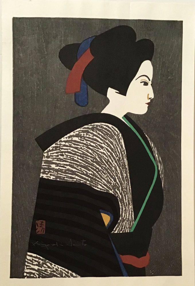 Maiko (SIGNED original woodblock print