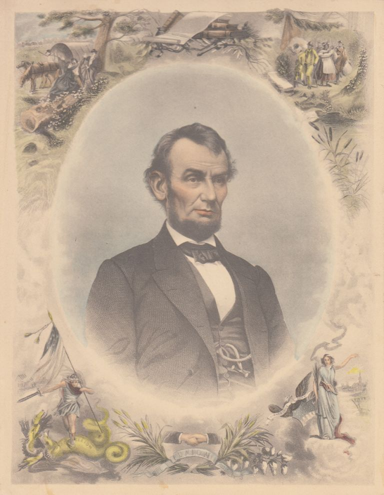 Abraham Lincoln (Color Engraving)