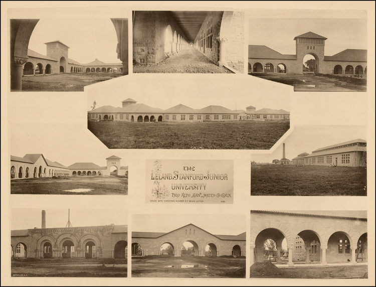 The Leland Stanford Junior University, Palo Alto, San Mateo Co. Cal'a. Issued with Christmas...