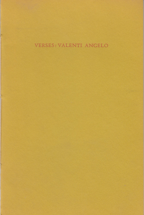 Valenti's Verses. Valenti Angelo, Grace Hoper Press.