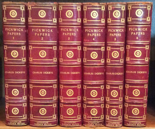 The Posthumous Papers of the Pickwick Club (6 volumes). Charles Dickens.