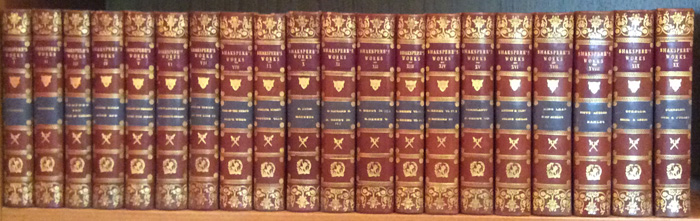 The Dramatick Writings of William Shakespeare (20 volumes). William Shakespeare.
