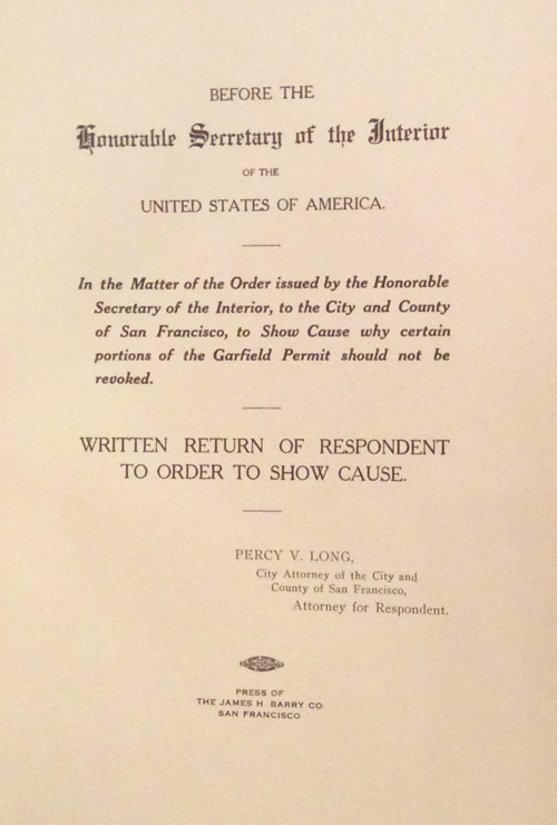 Before the Honorable Secretary of the Interior of the United States of America: In the Matter of...