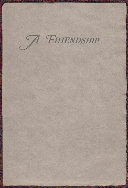 A Friendship: Robert Louis Stevenson, Jules Simoneau