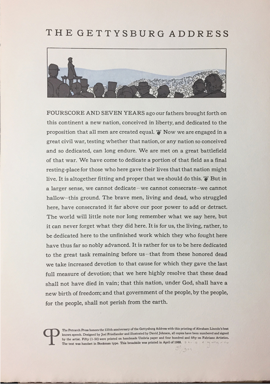 [Broadside] The Gettysburg Address