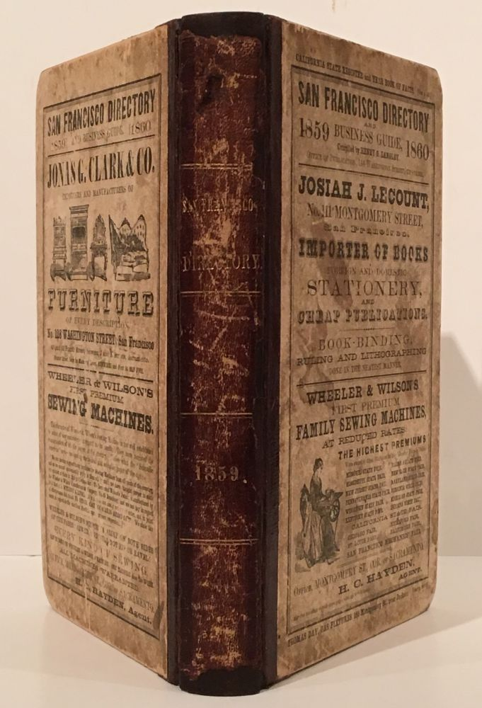 The San Francisco Directory and Business Guide, 1859-1860. Henry G. Langley, compiler.