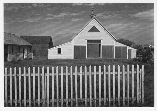 Cape Cod Barn, Massachusetts (SIGNED photographic postcard). Ansel Adams.