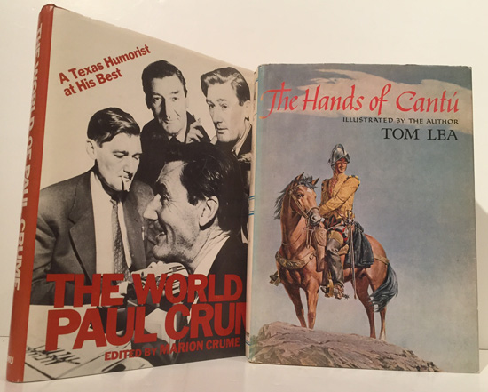An Archive of 2 books (Tom Lea's The Hands of Cantu INSCRIBED to Stanford President Wallace Sterling and Crume's The World of Paul Crume), each accompanied by a warm TLS to Sterling on Erik Jonsson's personal letterhead. J. Erik to Dr. Wallace Sterling Jonsson.