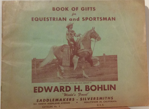 Book of Gifts for Equestrian and Sportsman. Edward H. Bohlin.