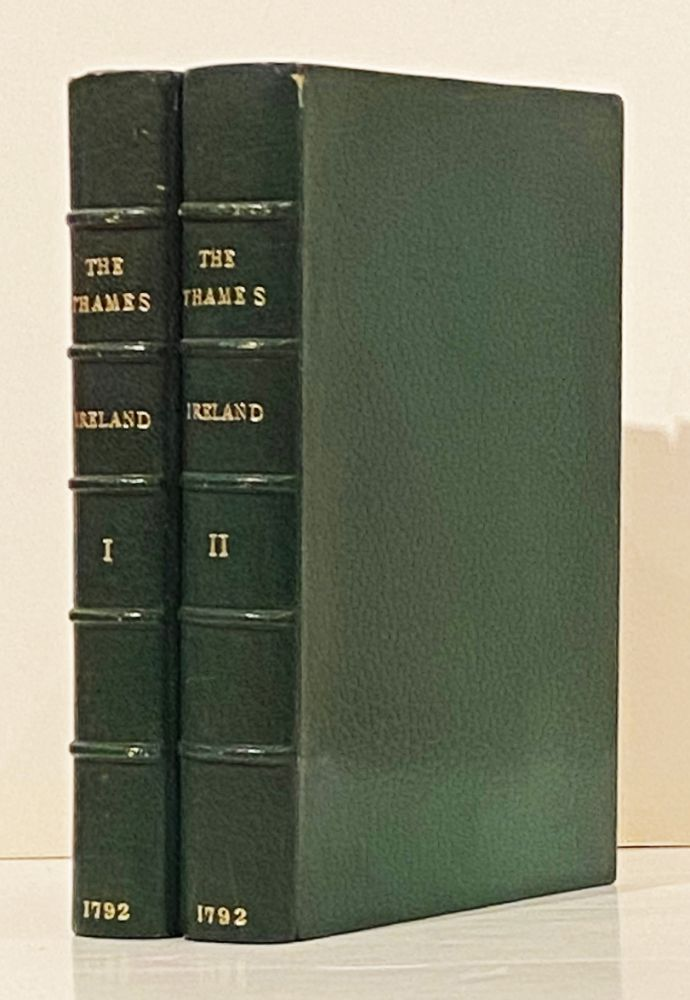 Picturesque Views on the River Thames; From its Source in Gloucestershire to the Nore; with Observations on the Public Buildings and Other Works of Art in its Vicinity (2 Volumes, with color plates). Samuel Ireland.