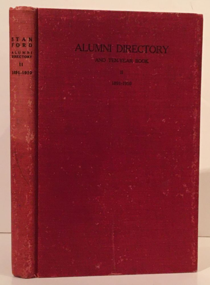 Alumni Directory and Ten-Year Book II, 1891-1910