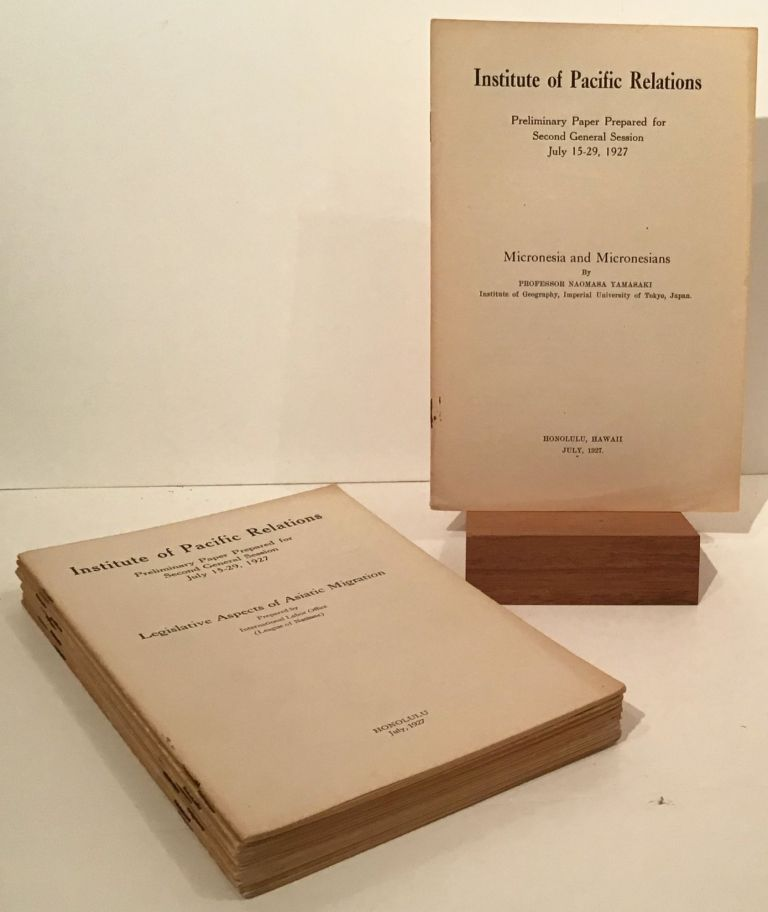 Preliminary Paper Prepared for Second General Session July 15-29, 1927 (14 booklets on various...