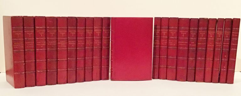 The Poetical Works of Robert Browning (with SIGNED card, 21 volumes). Robert Browning.