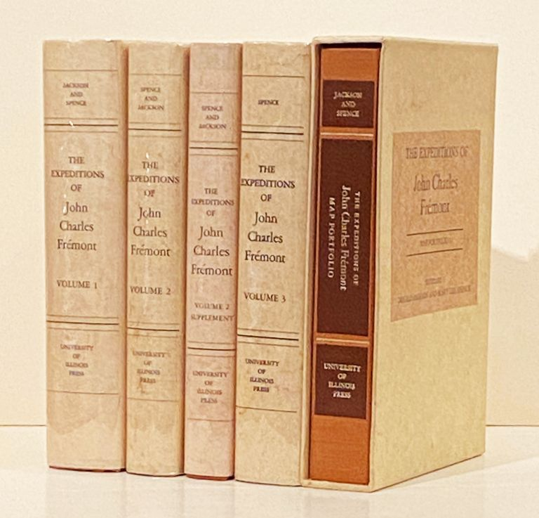 The Expeditions of John Charles Fremont (Four Volumes plus Map Portfolio). Mary Lee Spence, Donald Jackson.