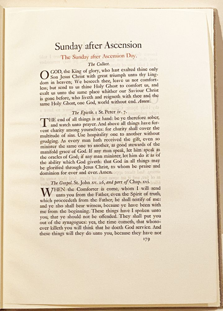 The Making of the Book of Common Prayer of 1928: Accompanied by an Original Leaf Printed on Vellum at the Merrymount Press. Leaf Book, Martin Hunter.
