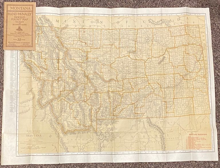 Indexed Pocket Map: Tourists' and Shippers' Guide to Montana