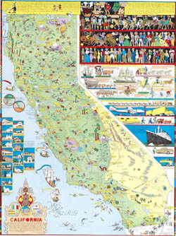 California (Carte/Map). Jo J. Mora.