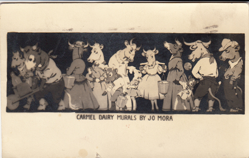 Carmel Dairy Postcard (Real Photo Postcard). Jo J. Mora.