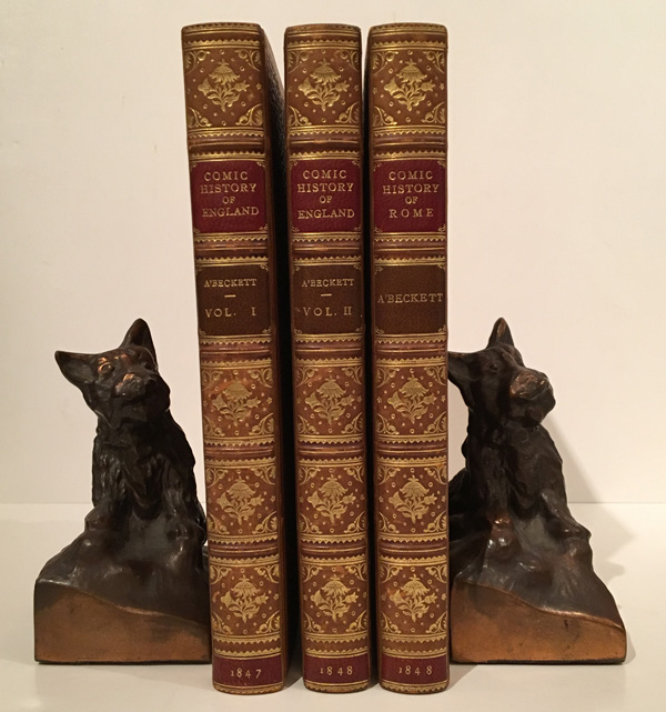 The Comic History of England (2 volumes); The Comic History of Rome (1 volume). Gilbert Abbott A'Beckett.