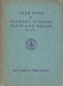 Year Book of Student Stories Plays & Essays for 1939-40. Jennet Johnson, Alma E. Gunning