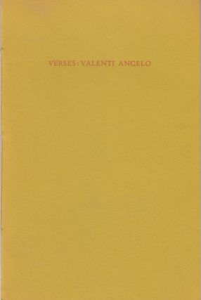 Valenti's Verses. Valenti Angelo, Grace Hoper Press
