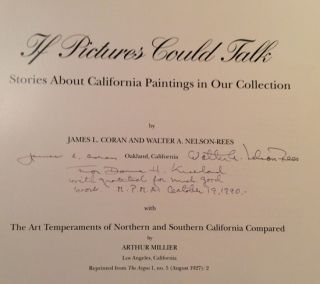 If Pictures Could Talk: Stories About California Paintings in Our Collection (SIGNED)