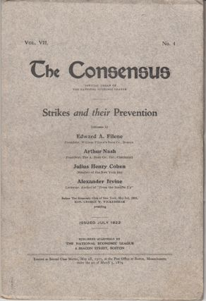 The Consensus: Strikes and their Prevention (Vol. VII, No. 4