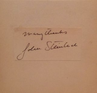 The Best Plays of 1937 - 1938 and the Year Book of the Drama in America (SIGNED by John Steinbeck)