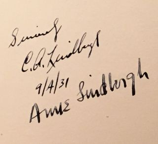 """""""We"""" (SIGNED by Charles & Anne Lindbergh)"""