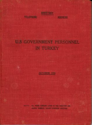 U.S. Government Personnel in Turkey D-I--R-E-C-T-O-R-Y