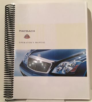 Maybach Operator's Manual: Maybach 57 / 62