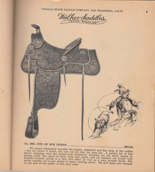 Visalia Stock Saddle Co. Catalog #31 (with revised price list)