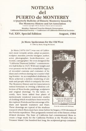 Noticias del Puerto de Monterey: Vol. XXV, Special Edition (Jo Mora: Spokesman for the Old West