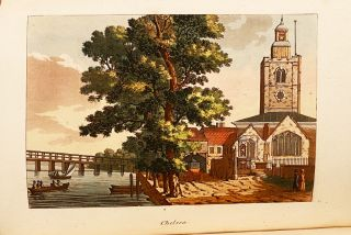 Picturesque Views on the River Thames; From its Source in Gloucestershire to the Nore; with Observations on the Public Buildings and Other Works of Art in its Vicinity (2 Volumes, with color plates)
