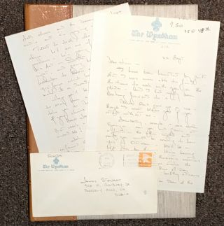 Emotional Manuscript Letter from Henry Fonda to James Stewart, Hollywood legends and life-long...