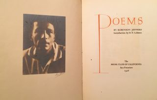 LITERATURE] Poems (SIGNED BY ANSEL ADAMS AND ROBINSON JEFFERS). Robinson Jeffers, Ansel Adams