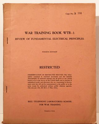 War Training Book WTB -1: Review of Fundamental Electrical Principles