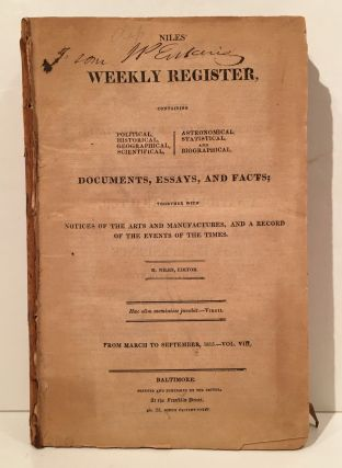 The Weekly Register (Vol. I, II, III, IV, V and VIII