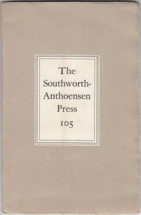 A Visit to the Southworth-Anthoensen Press of Portland, Maine (SIGNED). Paula A. Bennett