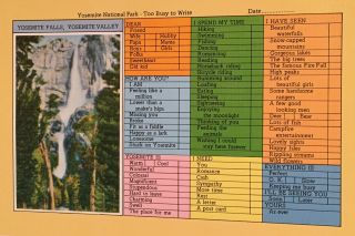 Yosemite National Park Postcard Proof Sheet with 12 Images
