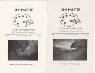The Palette Vol. I No. I Summer Bulletin, 1946 [together with] The Palette Vol. I No. 2 Fall...