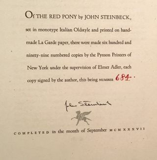 The Red Pony (SIGNED)