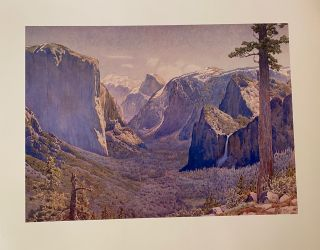 The Widforss Collection: Six Reproductions of Yosemite Paintings by Gunnar M. Widforss Made...