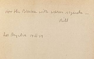 Collection of Poet's first three books, each inscribed along with ALS
