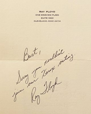 The World Professional Golf Mark H. McCormack's Golf Annual 1976 (with letter SIGNED by Ray Floyd)
