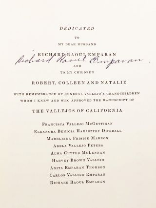 The Vallejos of California (SIGNED)