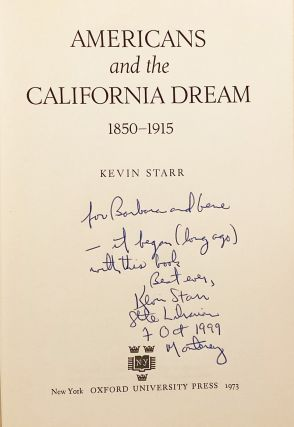 History of California: Americans and the California Dream Series (5 volumes, INSCRIBED)